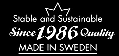 Since 1986 Quality MADE IN SWEDEN
